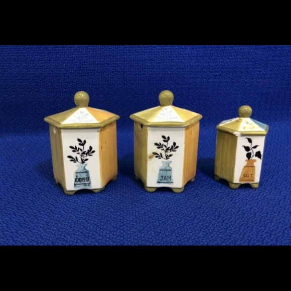 competitive price 81240 12944 NAPOLI Kitchen Ceramics Set of 3 Hand Painted
